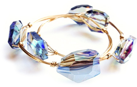 easy wire wrapped crystal bangle tutorial