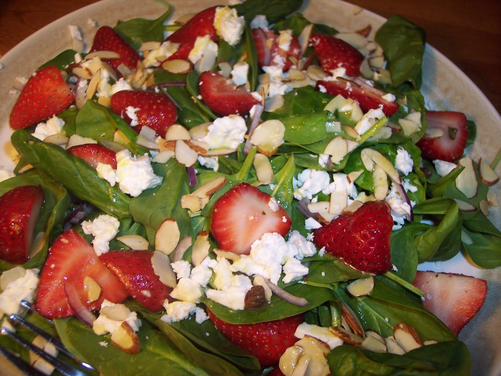 Savory Moments: Spinach, strawberry, and feta salad