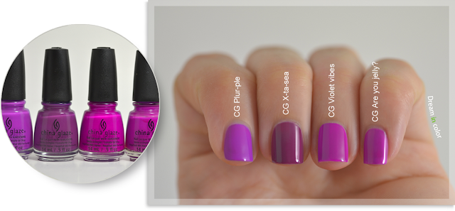 China Glaze Plur-ple-X-ta-sea-Violet Vibes-Are you jelly?