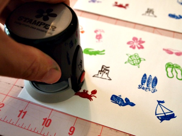 making sticker sheets with PSA Essentials Peel & Stick Stamps.