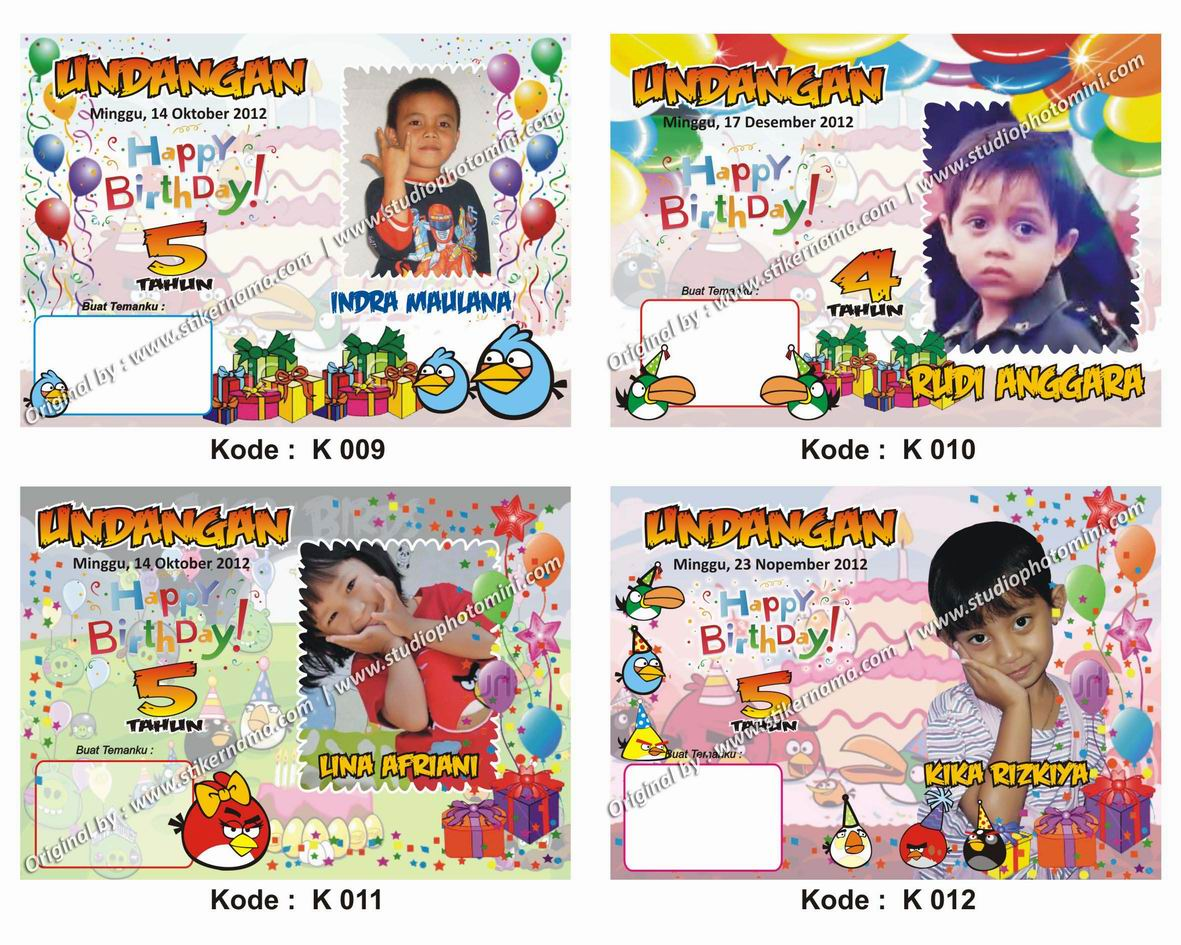 ... 233 kB · jpeg, Model frame kartu undangan ulang tahun anak new frame