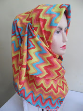 NEW CUSTOMADE COLLECTION : TUDUNG BAWAL CREPE TRIBAL AZTEC..