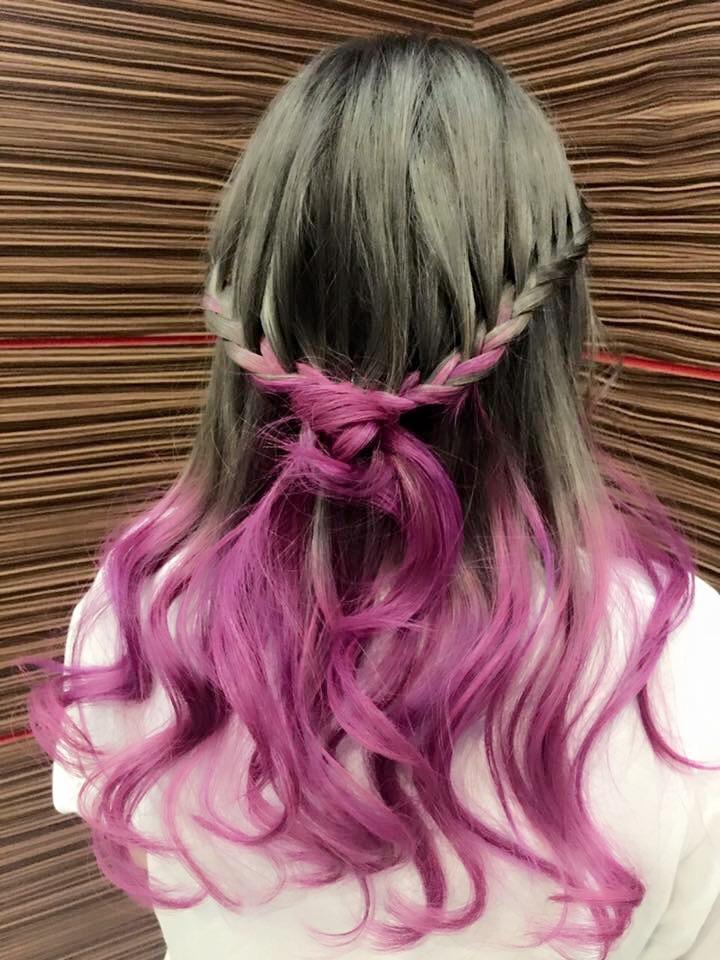 Silver Purple Ombre Hair ミカエラ