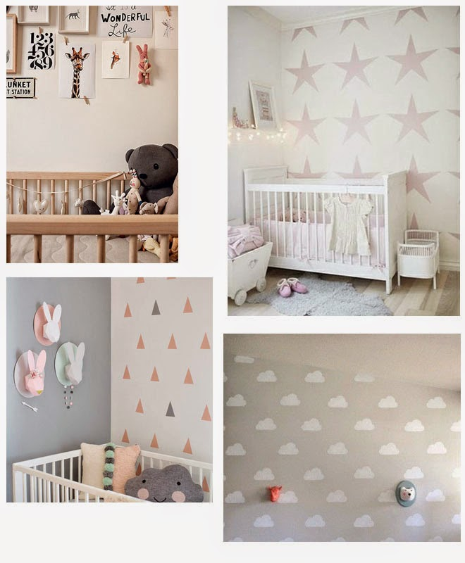 Se or beb habitaciones ni os decoraci n b sica de paredes - Decoracion paredes habitacion infantil ...