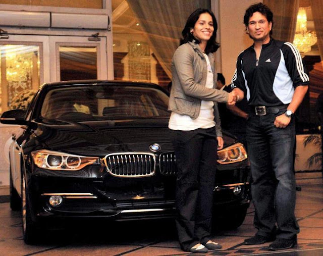Sachin Gifts BMW Car to Saina Nehwal Function Stills Event Photo Gallery