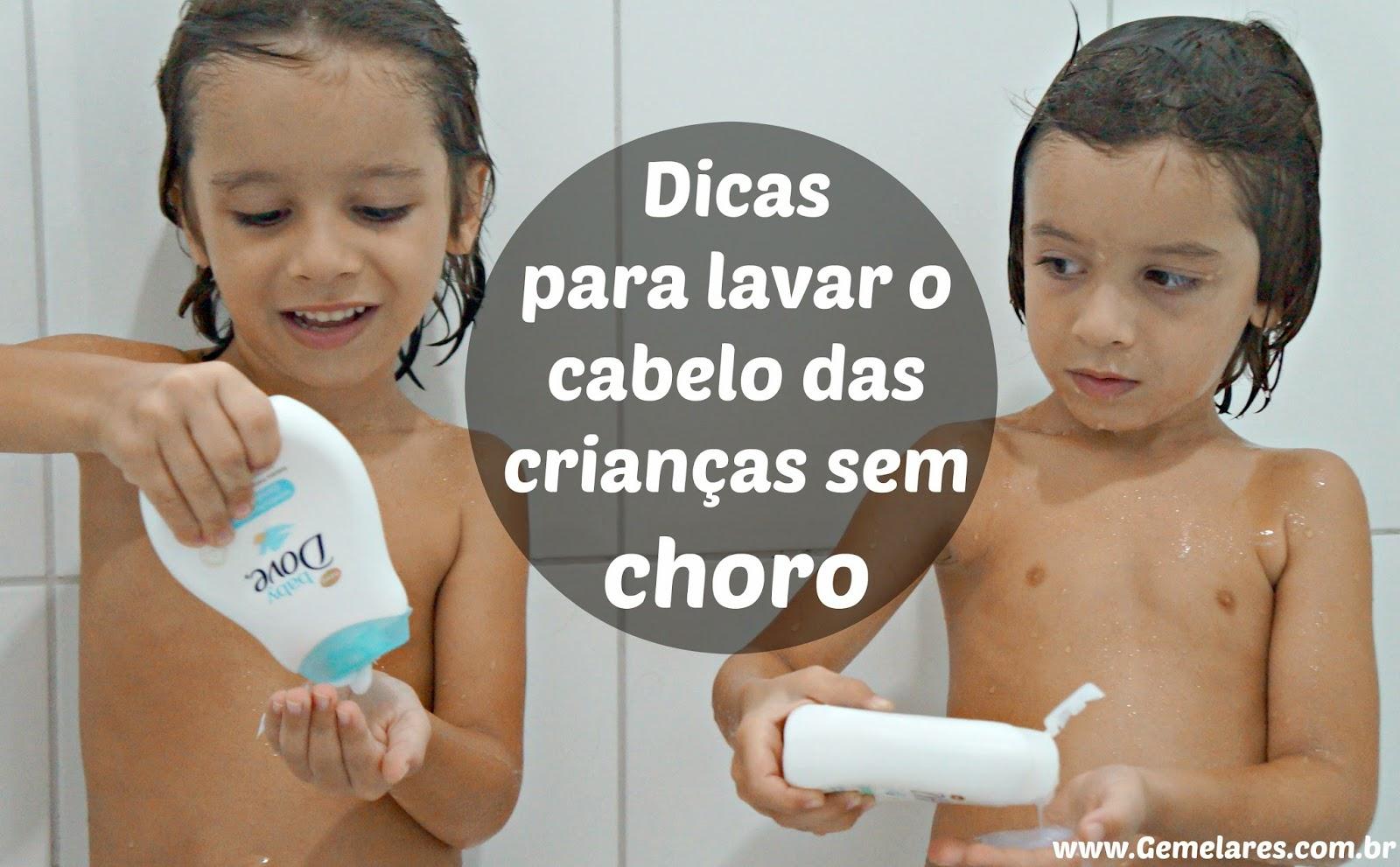 Dicas para lavar o cabelo das crianças sem choro