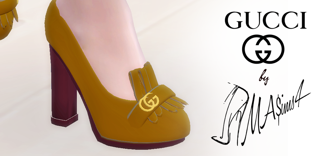 Gucci High Heel Loafers Sims 4