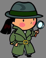 girl detective clip art