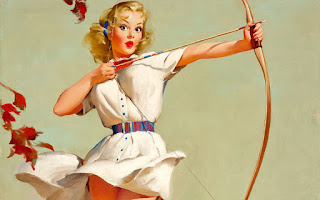 Gratis fondos de pantalla Vintage Pin Up Girl
