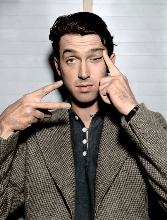 Brigadier General and actor Jimmy Stewart.