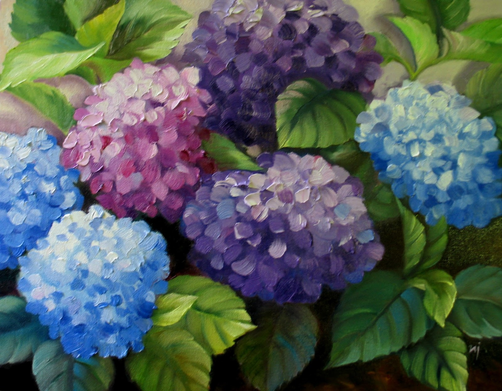How To Paint Hydrangeas In Acrylics