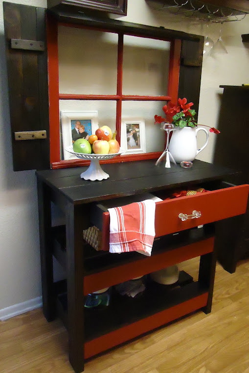 1950s Window Table with Shutters-SOLD