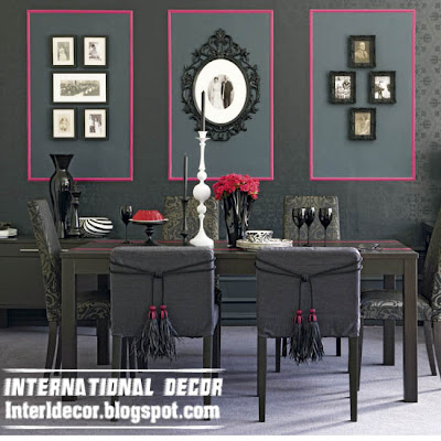 modern Italian dining room furniture ideas, black dining room furniture design