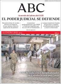 ESPAÑA UNA  PRIMERA PÁGINA DE LA PRENSA