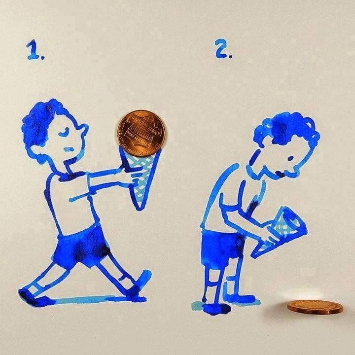 Creative Sketches That Incorporate Everyday Objects