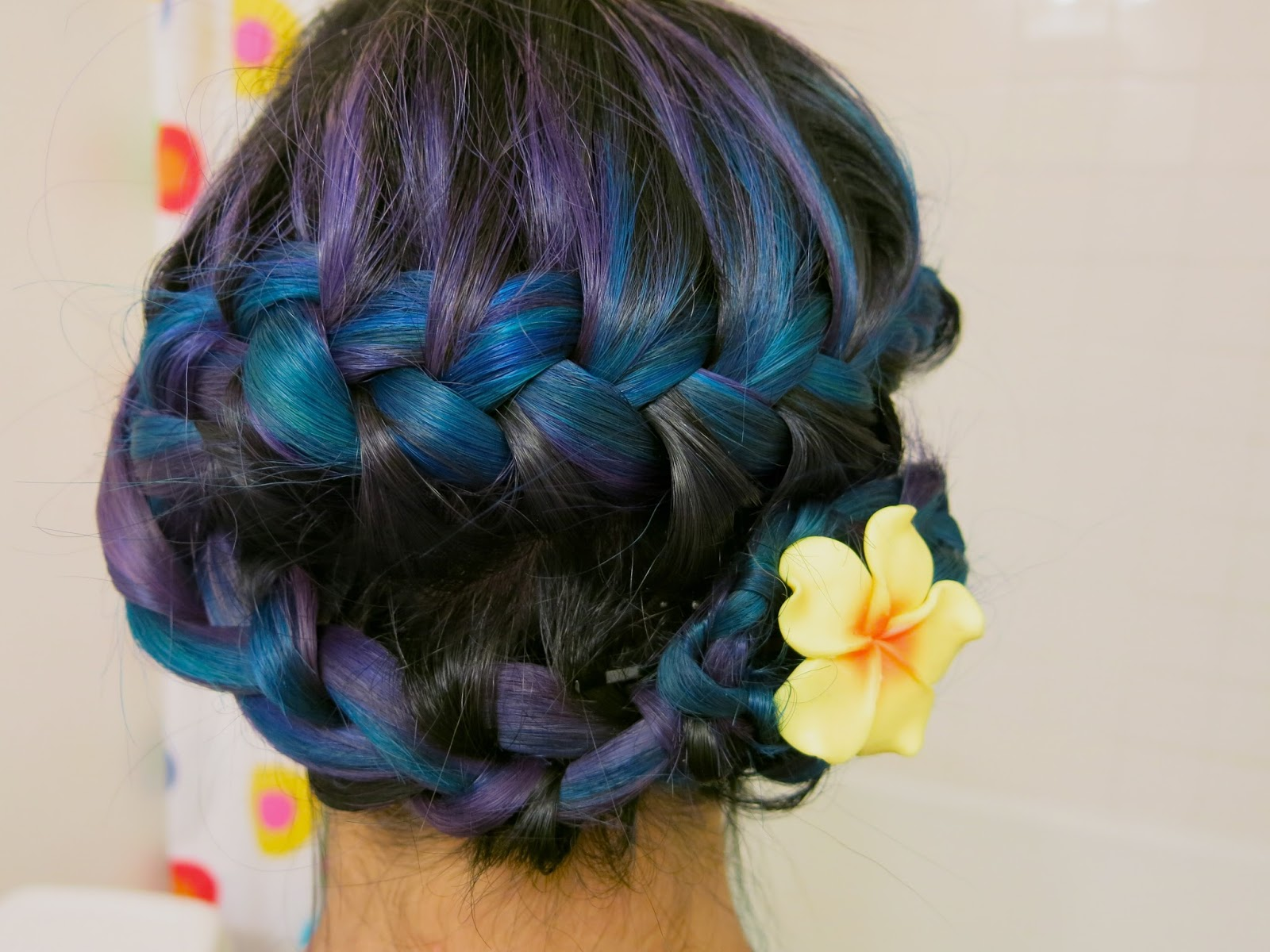 shelbella hair tutorial dutch flower braid