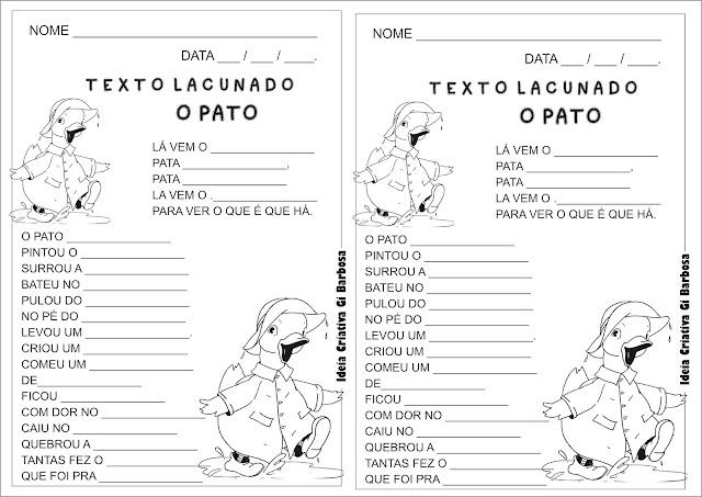 Texto Lacunado Pato Pateta Vinicius de Moraes