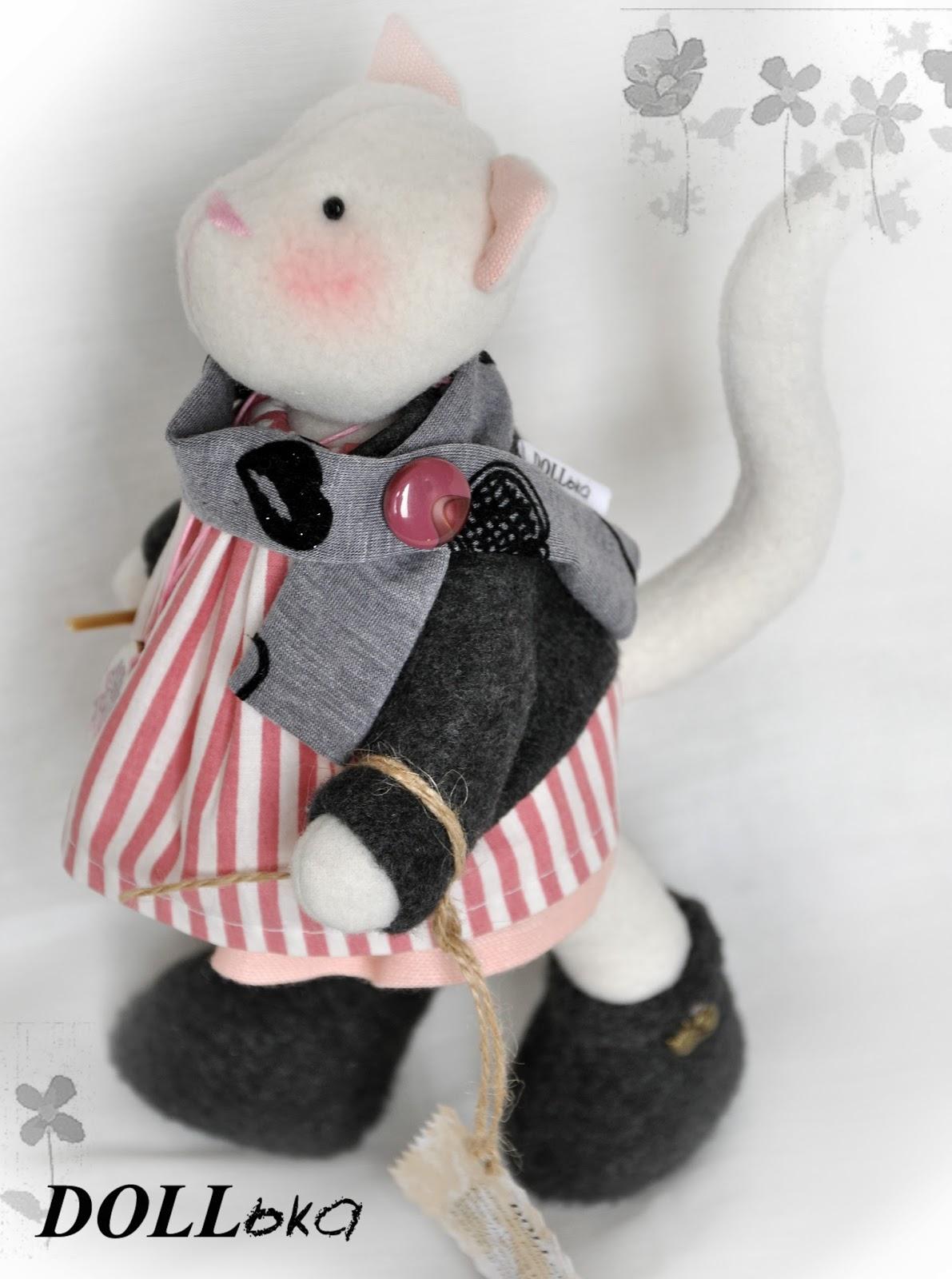 тильда кошка игрушка ручной работы