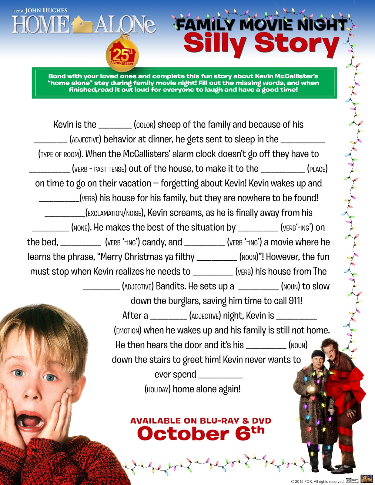 MOMMY BLOG EXPERT Holiday Home Alone Kids Free Printables Fun