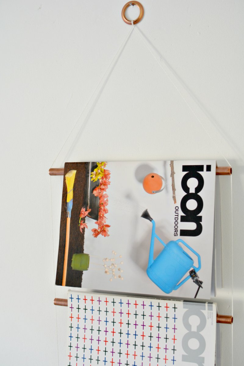 diy copper magazine rack burkatron