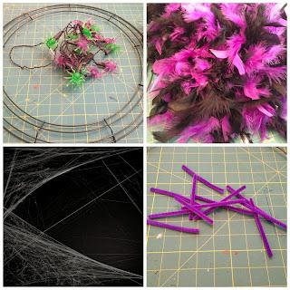Halloween Glam Spider Wreath | The TipToe Fairy #halloweenglam #halloween #halloweendecor #halloweendecorations #wreathtutorial