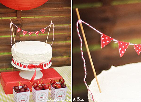 sweet table theme cerise