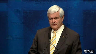 Newt Gingrich Full Speech at CPAC 2012 FULL VIDEO 02/10/12