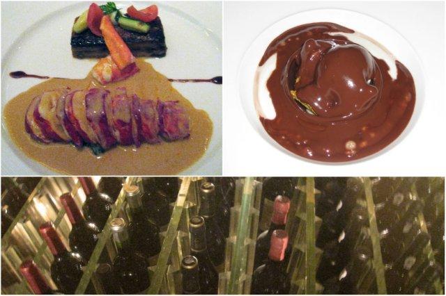 Langosta, Esfera de chocolate, Bodega - Restaurante Petrus en Londres
