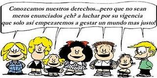 Mafalda con los derechos de los Niños.