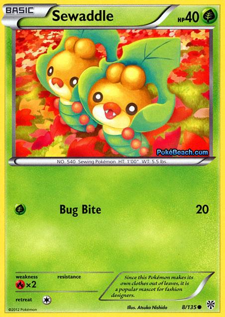 sewaddle plasma storm pokemon card review