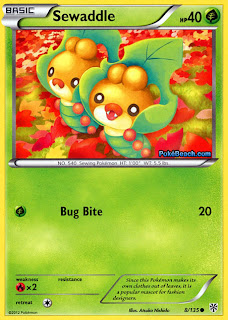 Sewaddle Plasma Storm Pokemon Card