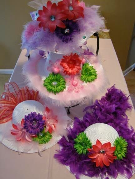 The princess birthday blog princess party crafts tea for How to decorate a hat for a tea party