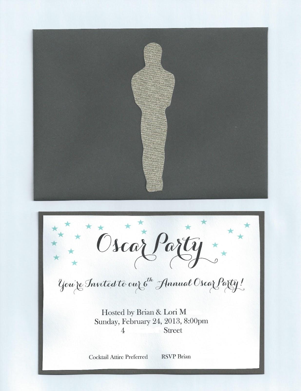 Just Nesting Oscar Party Invitation