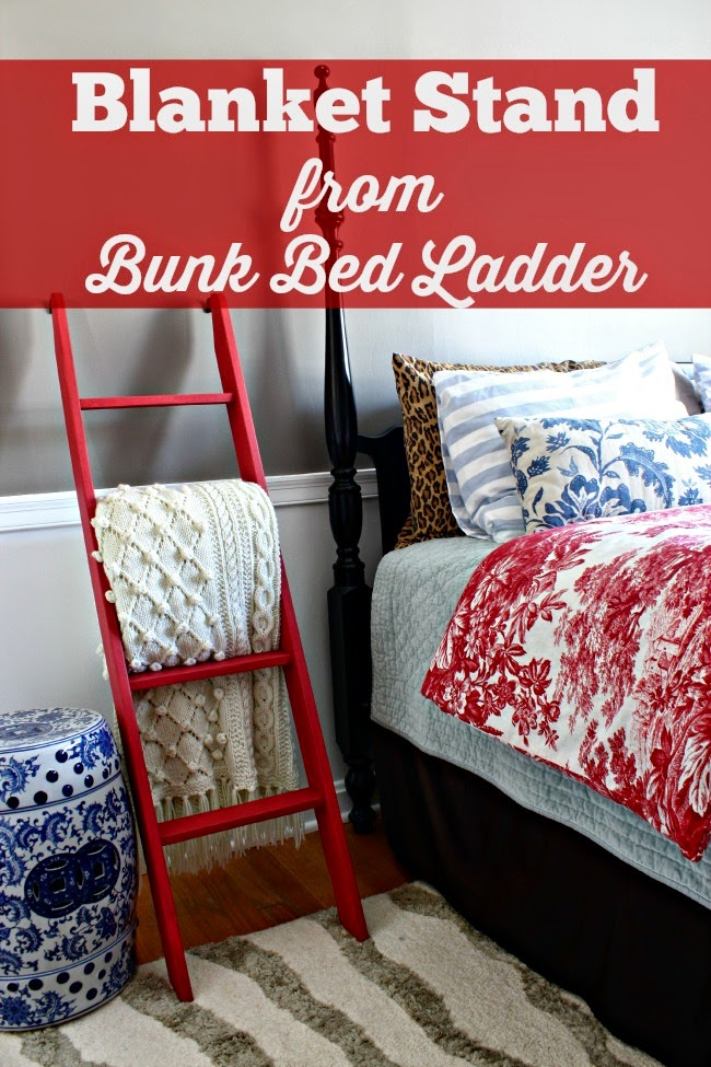 red painted ladder