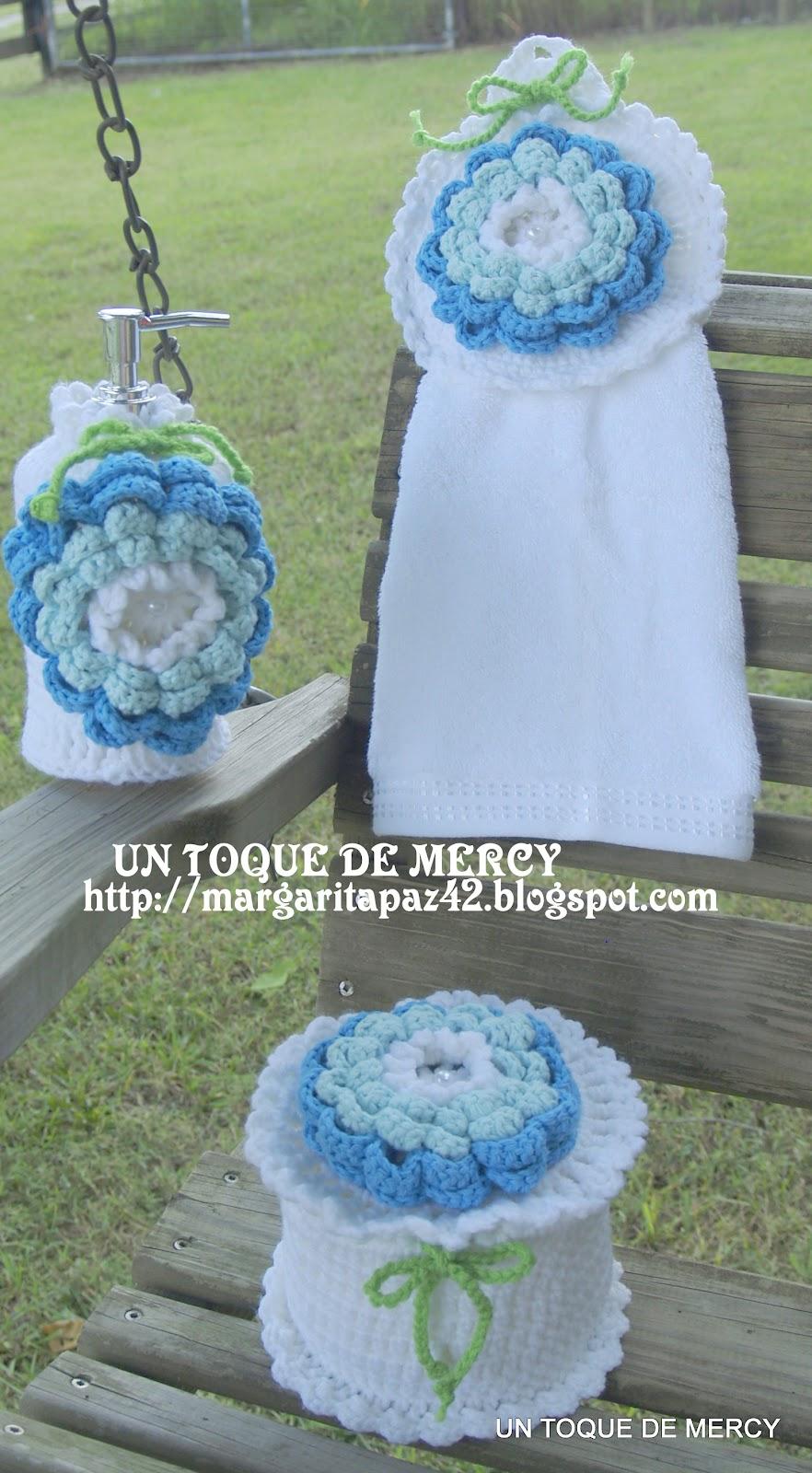 Set De Baño Tejido A Mano:El Bano Para Crochet Set