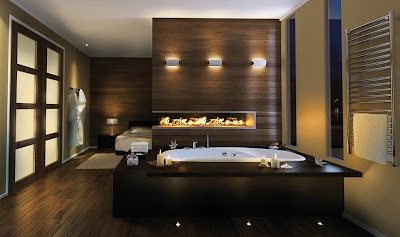 bañera relajante lujo
