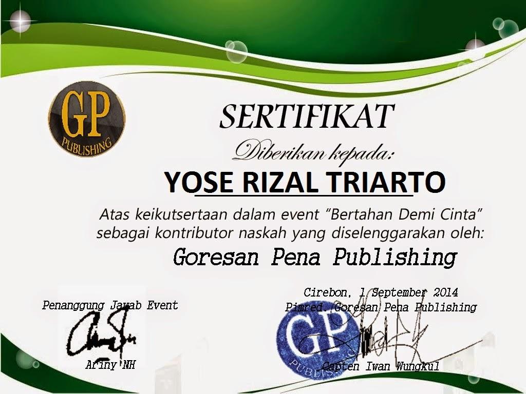 "GP Publishing ""Bertahan Demi Cinta"""