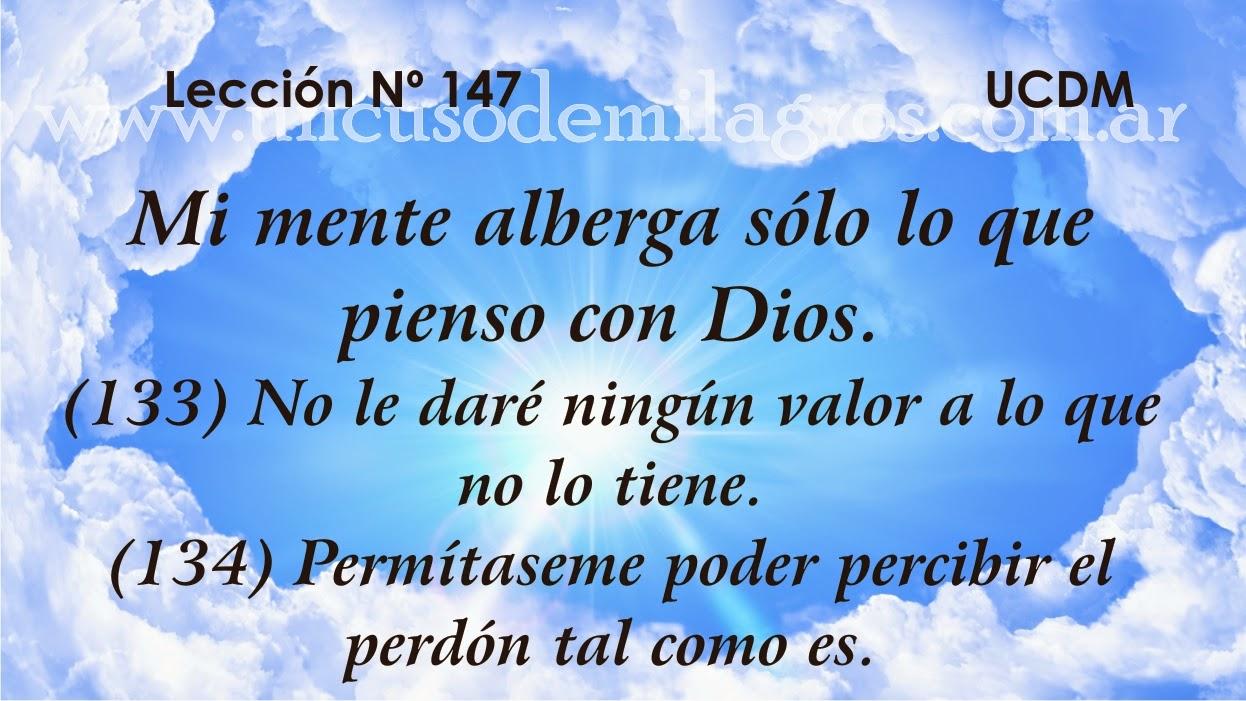 Leccion 147, Un Curso de Milagros