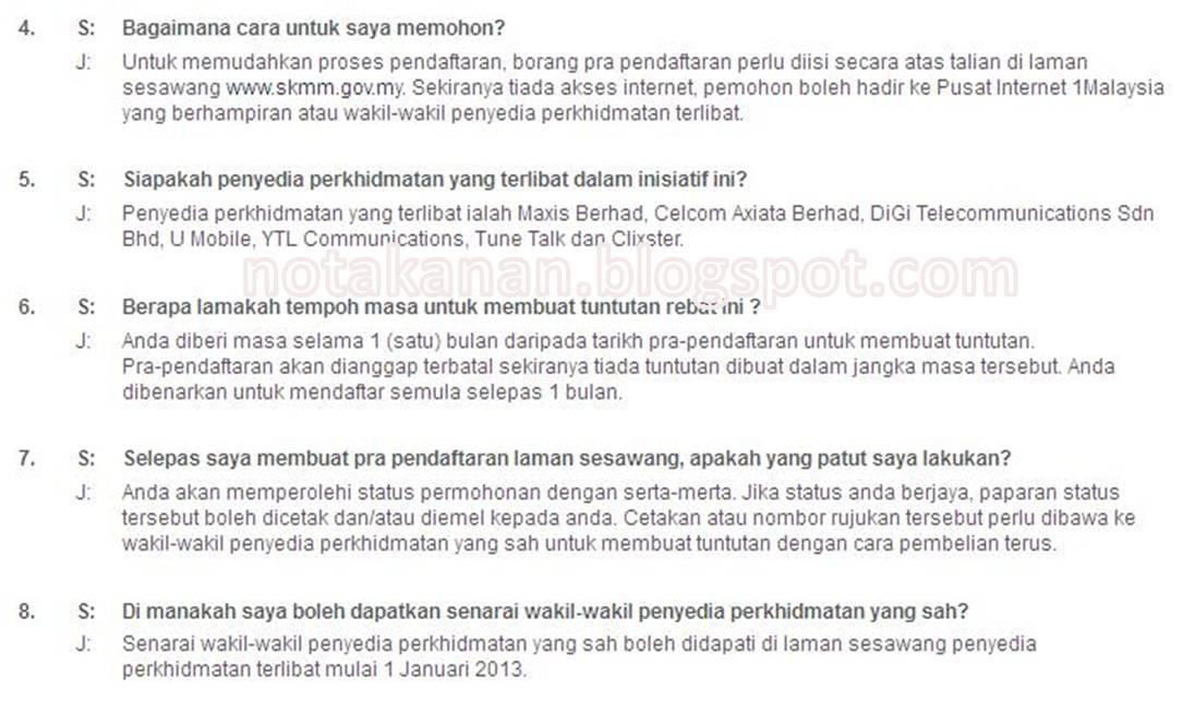 Panduan Permohonan Rebat Telefon Pintar RM200