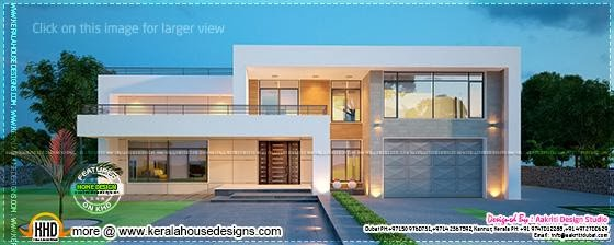 February 2014 kerala home design and floor plans for New villa design