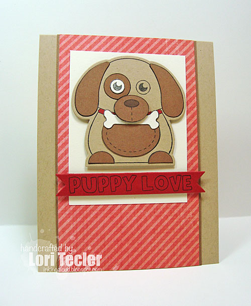 Puppy Love card-designed by Lori Tecler/Inking Aloud-stamps and dies from Clear and Simple Stamps