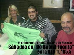 """ROSARIO Running en """"De Buena Fuente"""" por RED TL 105.5"""