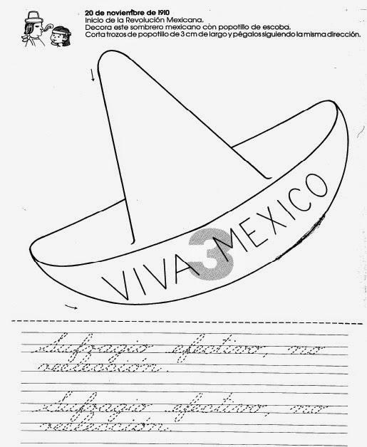 Fichas para Colorear - La Revolución Mexicana | Por Una Escuela ...
