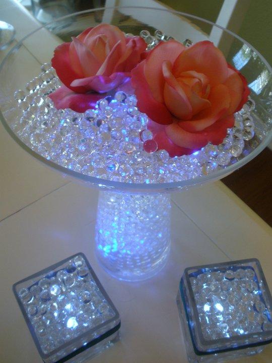 Wedding decor floralyte decorate wedding flower arrangement - Lamparas de mesa originales ...