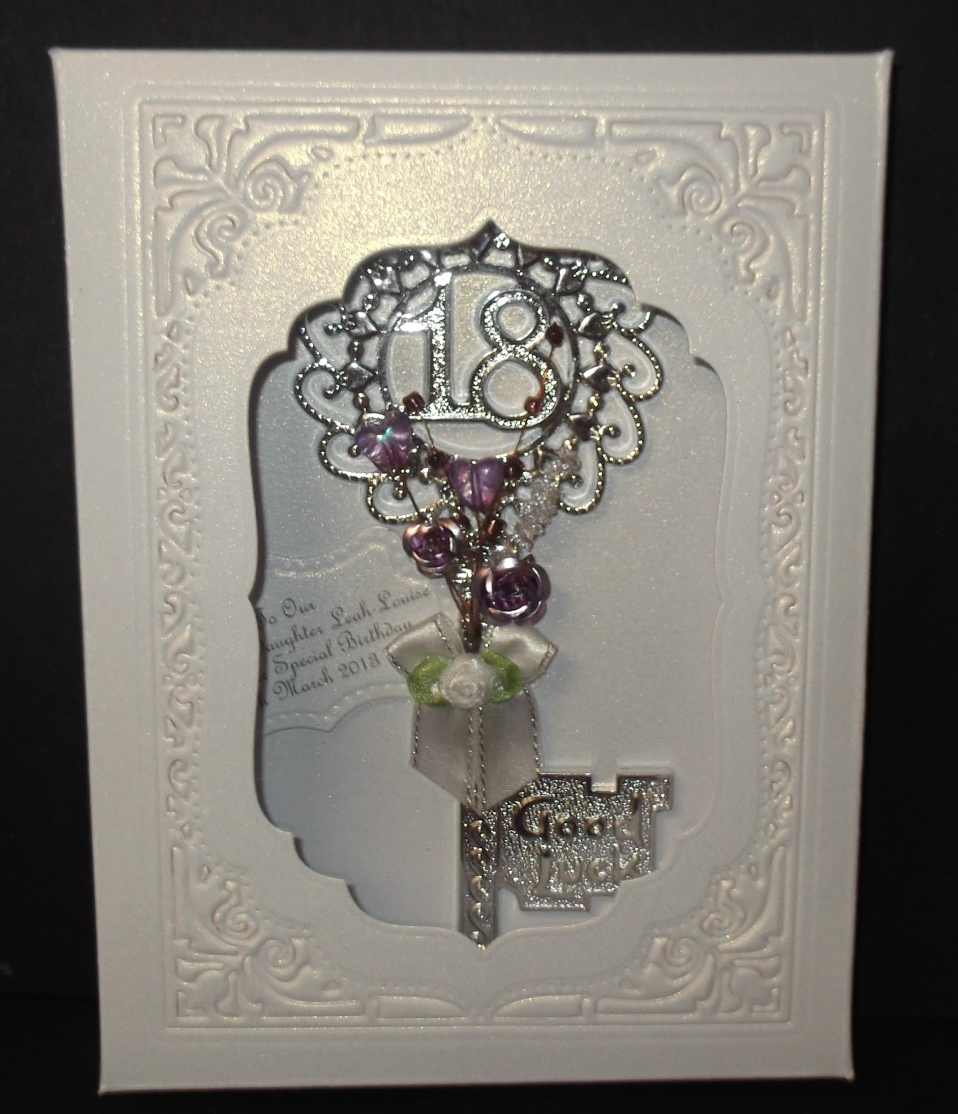 Loves To Craft: 18th Birthday Key With Box