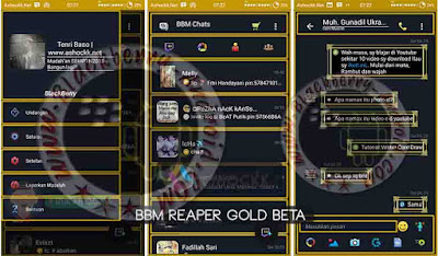 BBM Beta Mod Reaper Gold New v290.0.0.29 Apk