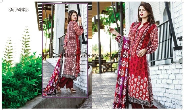 Tawakkal Fabrics Collection 2015 2016 Exclusive Linen Shawl Collection 2015 Vol 4 She Styles