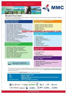 Mmc Corporation Berhad Jawatan Kosong