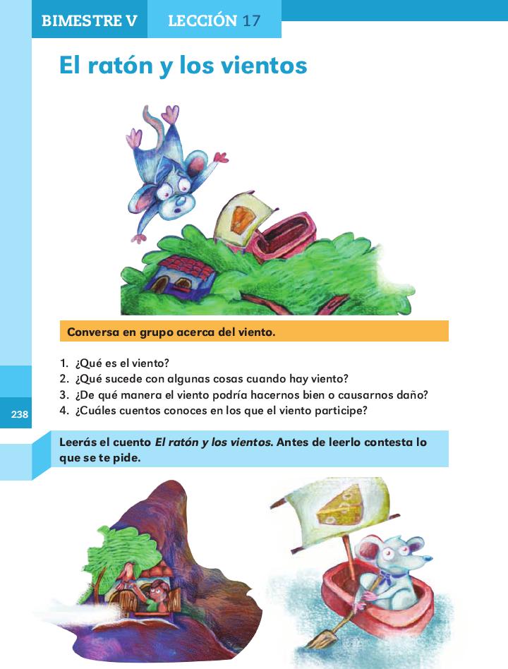 El ratón y los vientos español 2do bloque 5/ 2014-2015