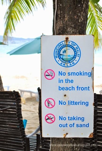rules, beach, boracay